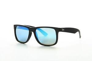ray ban justin color mix sunglasses rb4165 622 55 54 16 blue mirror rh ebay com