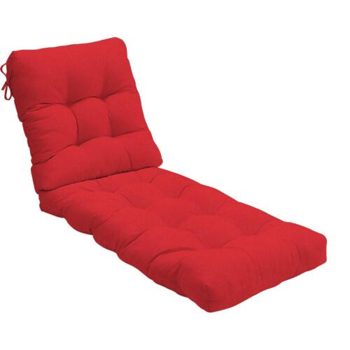 Sunbrella Canvas Outdoor Replacement Chaise Lounge Cushion Tufted 22 Colors