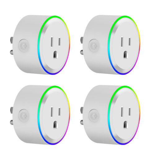 Smart Socket Wifi Plug Outlet Timer Light Switch Socket Work w//Alexa Google Home