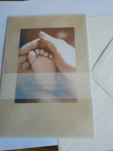 """Hallmark New Baby//pregnancy Greeting Card /""""wishing you happiness as you wait/"""""""