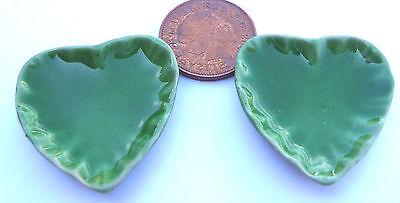 1:12 Scala 2 Verde Ceramica Cuore Piatti 3.5cm X 3.3cm Tumdee Casa Delle Bambole G16-mostra Il Titolo Originale Avere Una Lunga Posizione Storica