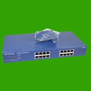Netgear Prosafe JGS 516 V2 16 Port Ethernet Switch 10/100/1000 Gigabit LAN