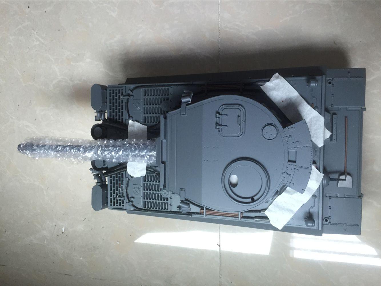 Mato 1  16 tutti Metal Geruomo Tiger I RC Tank KIT Infrarosso grigio Coloree modello 1220  confortevole