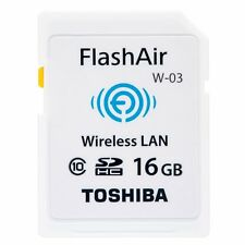 TOSHIBA 16GB Class 10 Wireless SDHC Memory Card Flash Air (W-03)