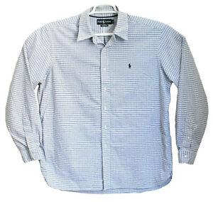 Polo-Ralph-Lauren-Classic-Fit-Button-Down-Long-Sleeve-Checkered-Men-XL-Career
