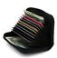 Black-Genuine-Leather-Women-Accordion-Wallet-Zip-Around-ID-Card-Holder thumbnail 1