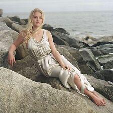 EMILIE DE RAVIN SEXY HOT WHITE DRESS BEACH POSING 8X10
