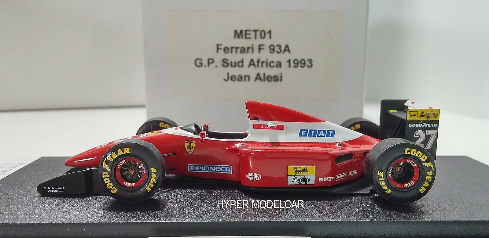BBR Model Kit 1/43 F1 Ferrari F93A  27 Gp South Africa 1993 J. Alesi Art. MET01