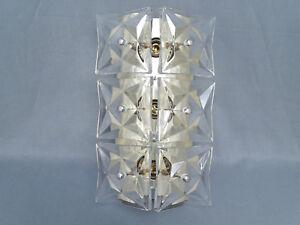 Lampade In Vetro Anni 70 : Anni 70 anni lampada parete vetro in ottone ebay