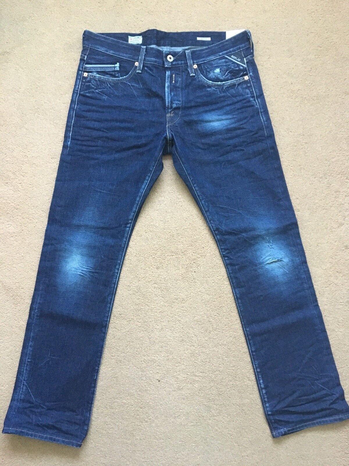 Replay Waitom Original Open-end Regular Slim  's Bleu Bleu Bleu  jeans, W34