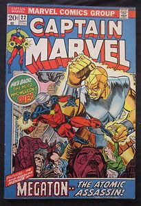 CAPTAIN-MARVEL-22-1972-Marvel-Comics-6-0-FN-Fine-Silver-Bronze-Age-AVENGERS