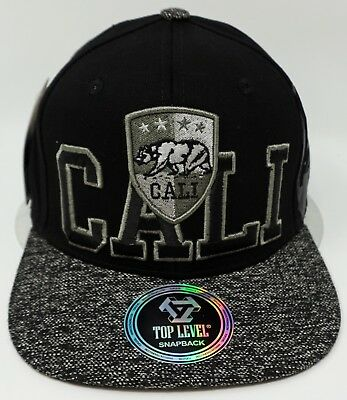CALIFORNIA REPUBLIC City Snapback Cap Hat Cali Bear Flag OSFM Adjustable NWT