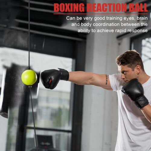 Boxing Punch Fight Ball Bag Reflex Speed Reaction Combat For Muscle Exercise