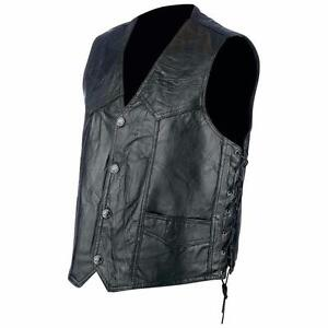 M Patchwork Laccio Giacca Bikers Taglia Paese Gilet Pelle XzBwaW