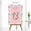 Personalised-Wedding-Table-Numbers-Floral-Theme-Party-Name-Cards-A5-A6-A7 thumbnail 8