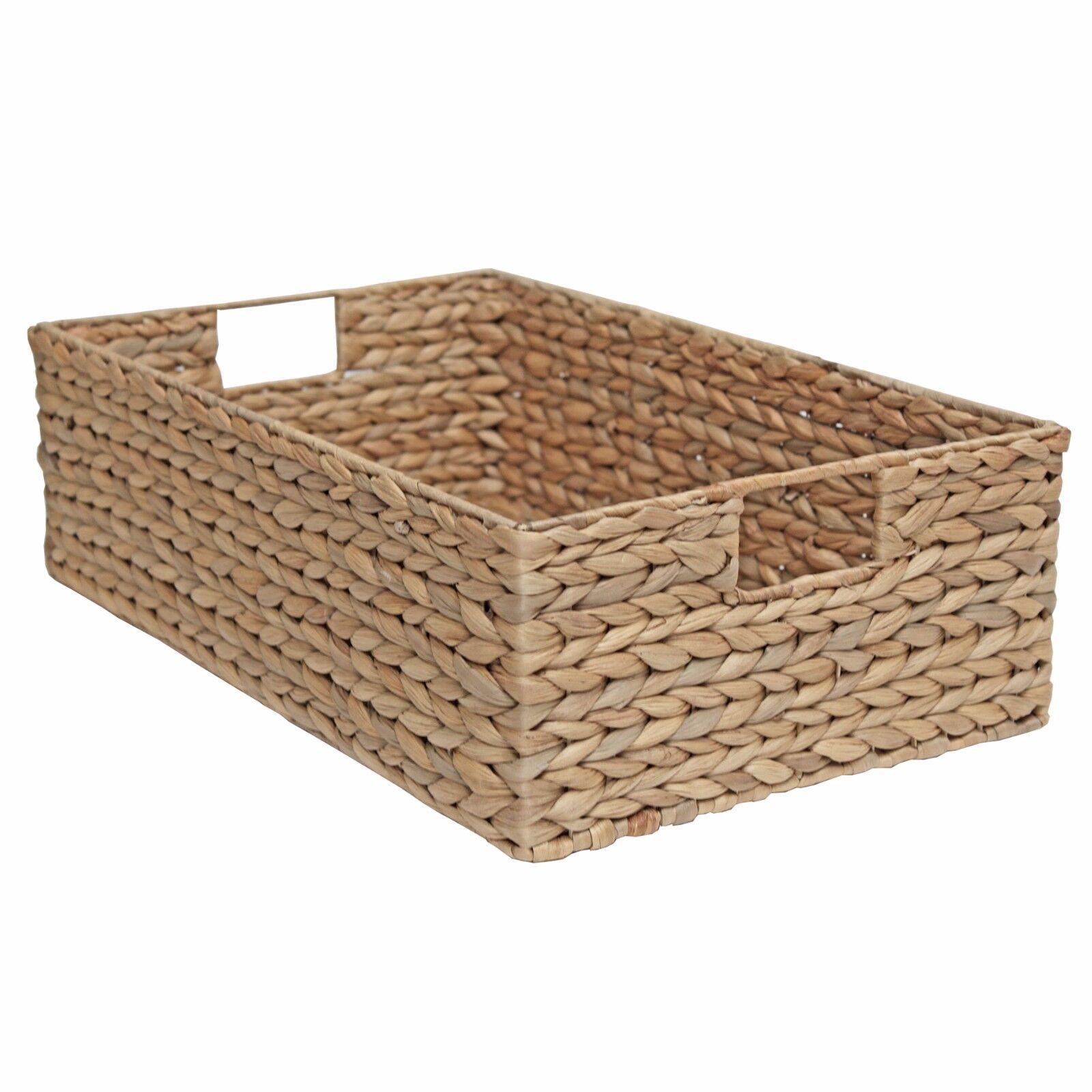 Osier long stockage panier jacinthe d'eau-chambre à cuisine, coucher, cuisine, à bureau, affichage 4e499d