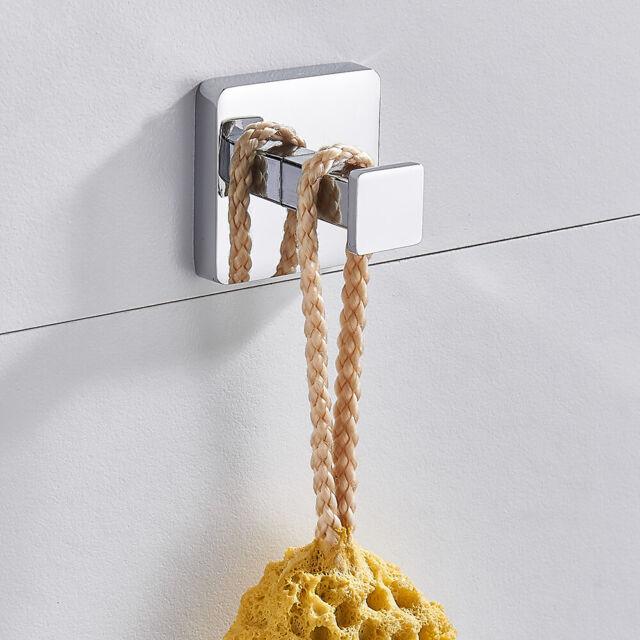 Bathroom Round Single Hook Wall Mounted Robe Towel Coat Hooks Holder Hanger SH