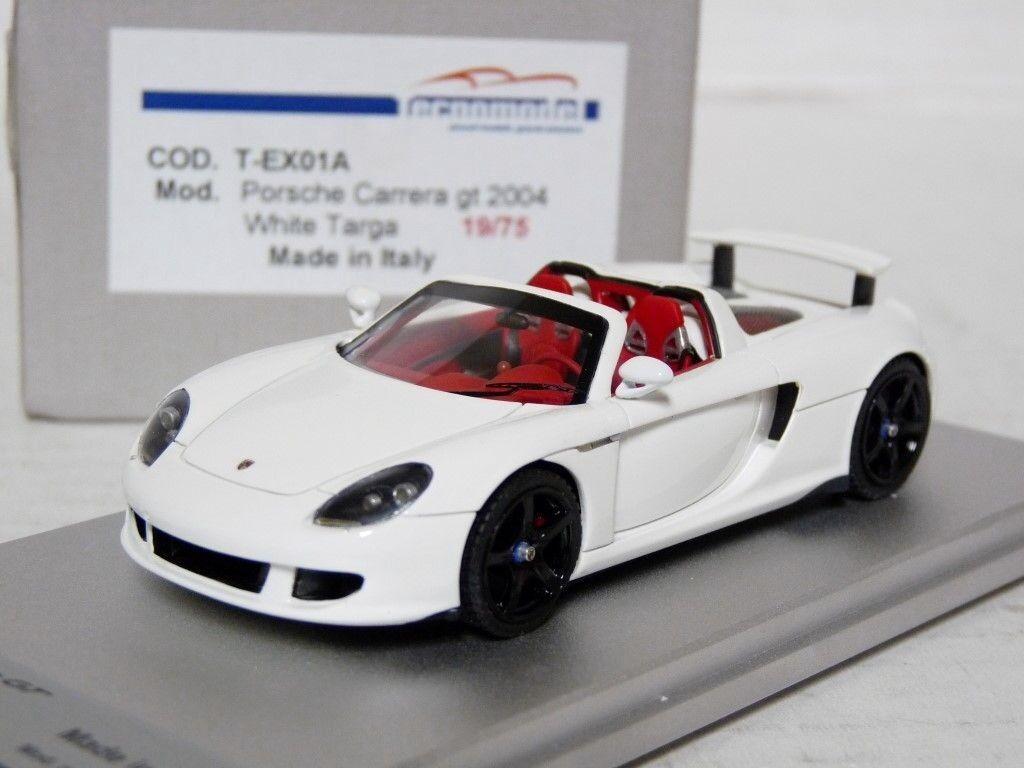 TECNOMODEL T-EX01A 1 43 2004 PORSCHE CARRERA GT targa résine fait main modèle voiture