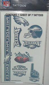 NFL-PHILADELPHIA-EAGLES-TEMPORARY-TATTOOS-1-SHEET-7-TATTOOS-FAST-FREE-SHIPPING