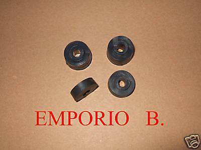 Puntuale Kit 4 Gommini Distanziali Cornice Targa Post. Fiat 500 Moderno Ed Elegante Nella Moda