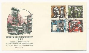 Germany First Day Cover Scott #B356-B359 October 1, 1957