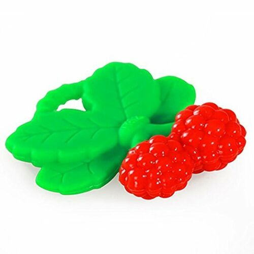 3 Count RaZbaby RaZzies Teether Red and Green raspberry