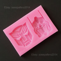 Transformers Silicone Mold 2 Cavities For Fondant, Chocolate, Clay, Resin