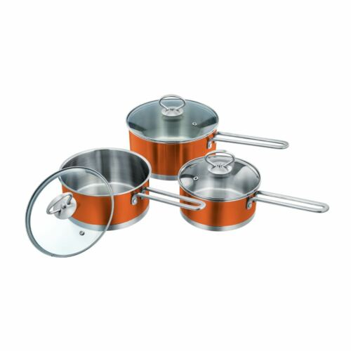 SQ professionnel Gems Range Casserole Set 16 cm 18 cm 20 cm disponible en 5 couleurs