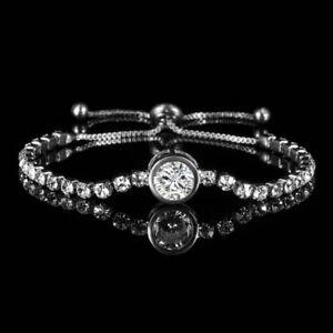 0ab4737df699f Round Cubic Zircon Bracelet Women Adjustable Bangle Wedding Jewelry ...