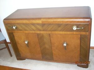 Image Is Loading Kroehler Serving Dining Room Hutch Mid Century Walnut