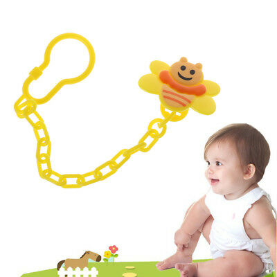 4pcs Cute Baby Soother Clips Fits Chain Holder Pacifier Strap Baby Teething Toy