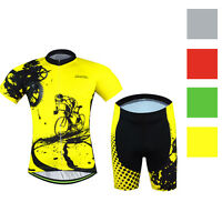 Mens Cycling Jerseys Kit Mountain Bike Jersey & Shorts Gel Padded 4 Colors S-5xl