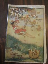 Today's Housewife September 1919 Girl on Tree Swing