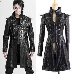 Gothic Punk Rave Jacke Mantel Herren coat jacket schwarz black gents ... 68b327d5fd