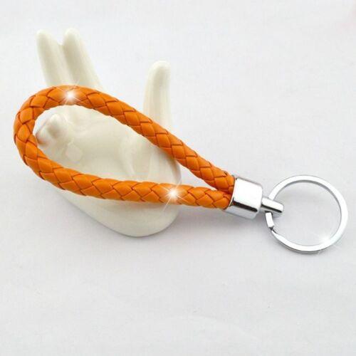 10 Farben Leder Schlüsselanhänger Auto Schlüsselring Paare Keychain Keyring