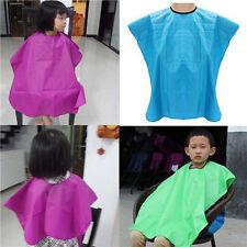 Kids Colors Salon Waterproof Hair Cut Haircut Barbers Cape Gown Cloth Convenient