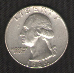US-Silver-Quarter-for-Sale-1964-D-with-FREE-and-Fast-Delivery