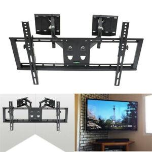 Tilt-Bracket-TV-Wall-Mount-Swivel-Full-Motion-Dual-Arm-For-32-034-to-65-034-LED-LCD-US