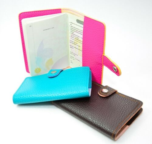 PINK PANTHER LEATHER PASSPORT HOLDER CASE COVER BAG WALLET TRAVEL TICKET PVC FRE