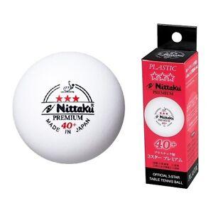 Nittaku 3-Star PREMIUM 40+ Table Tennis Balls Plastic Ball (Sale)