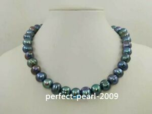 20-034-Charming-AAA-10-11mm-real-natural-Tahitian-Black-pearl-necklace-14k-clasp