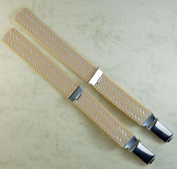 Straps, Strapsbänder 1,5cm breit mit Hosenträgerclip zum Annähen.