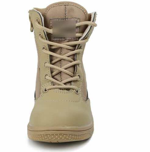 Kids Child Boys Girls Military Outdoor Shoes Army SWAT Tactical Combat Boots Goo