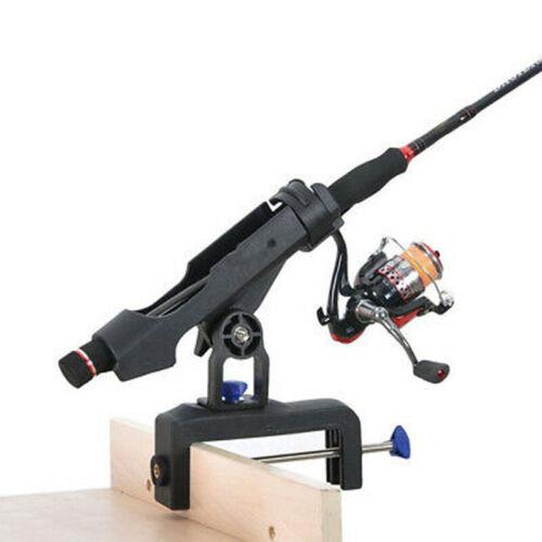 Fishing Pole Rod Holder Tackle Kit Adjustable Side Rail Mount For Kayak Boat