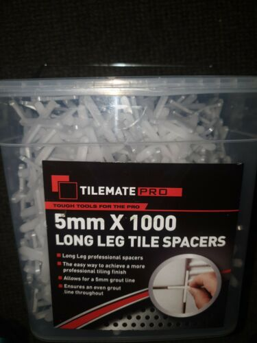 Tilemate pro Tile spacers 5mm 1000 in box