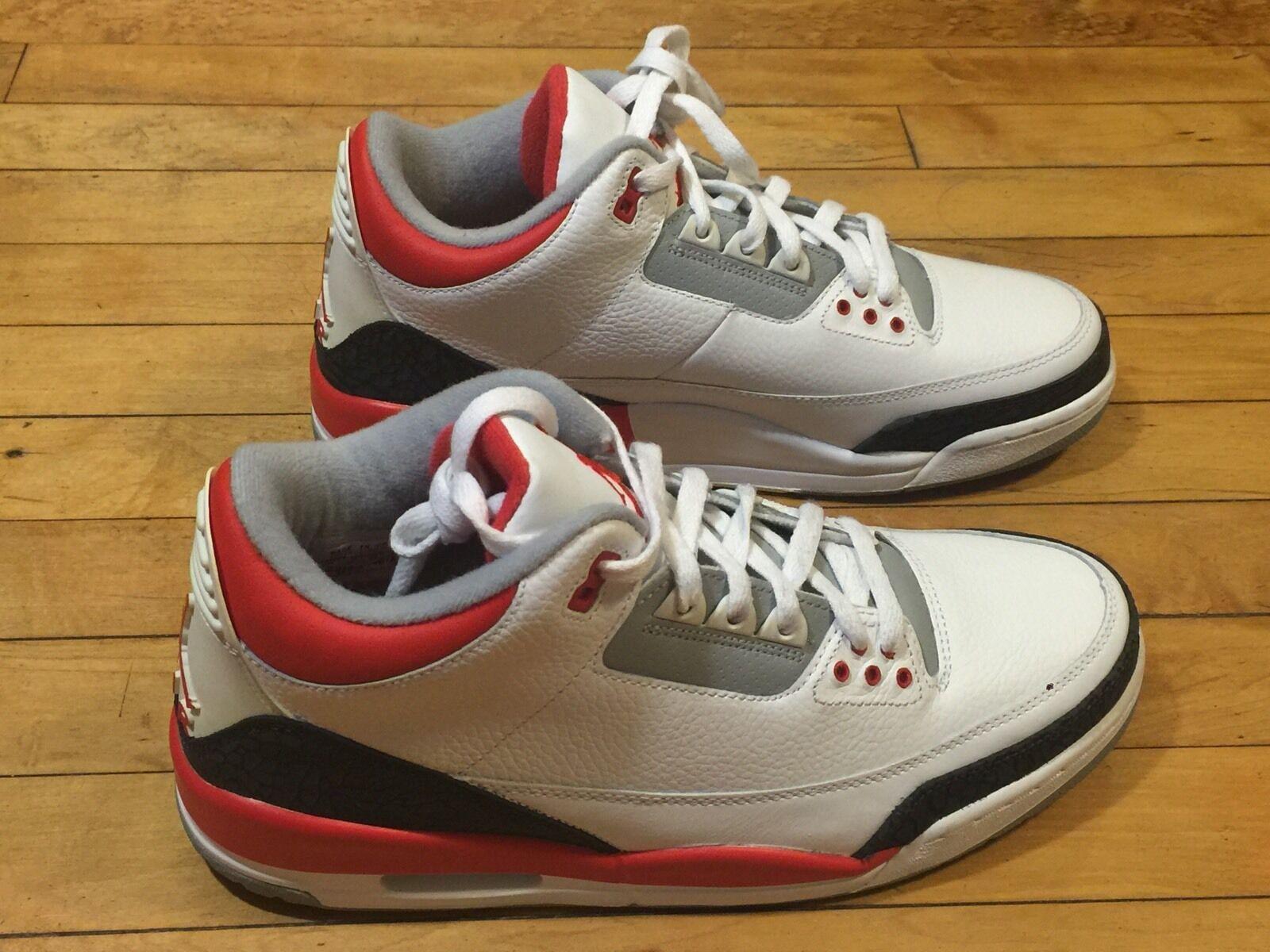 quality design 3d387 25b47 Nike Air Jordan 3 retro 136064-161 talla talla talla 11 rojo fuego Oregon  DB Lab WC3 BC3 el modelo mas vendido de la marca fd133b