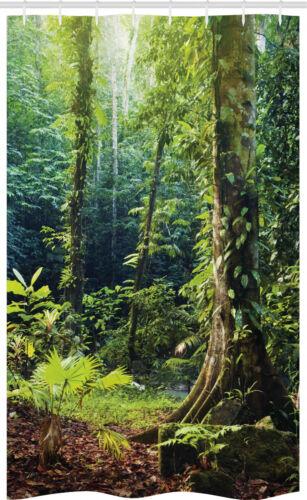 Urwald Schmaler Duschvorhang Wilder Efeu auf Bäume