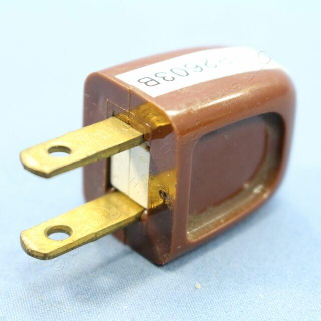 Cooper Brown Easy Install Plug 10a 125v Non