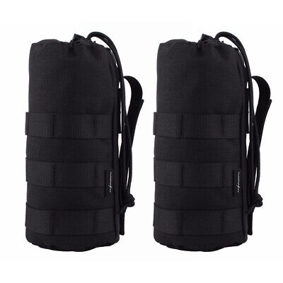 2Pcs Tactical Molle Water Bottle Pouch Bag Kettle Holder Outdoor Sport Military