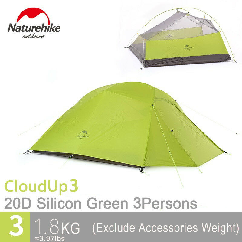 Naturehike Ultralight 3 persona al aire libre de doble capa de grandes Senderismo Camping Tienda